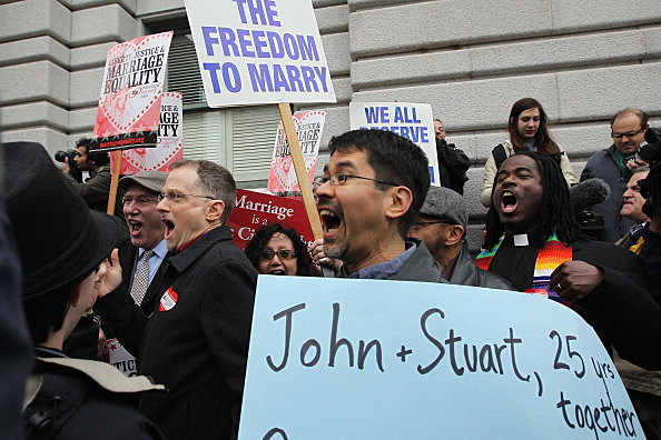 Crowd gathers in California as Ruling Expected On Prop 8