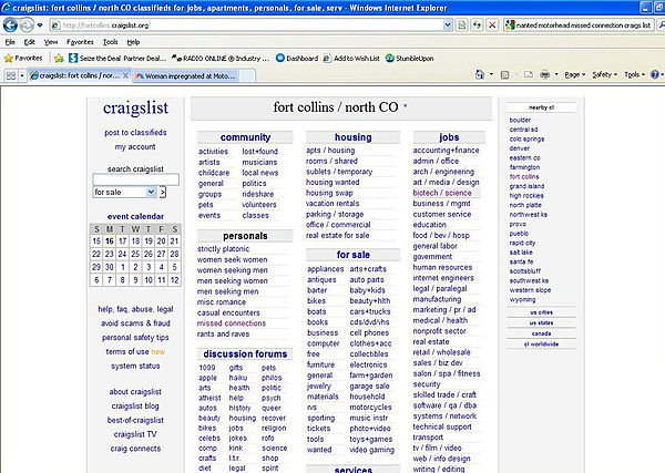 Craigslist Fort Collins – Would You Ever Use The 'Missed ...