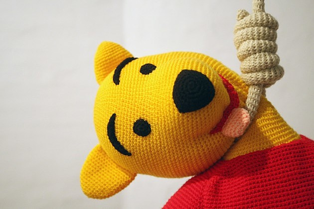 """Broken Heroes"" Exhibition - Pooh Bear"