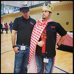 Beano and derek pizza