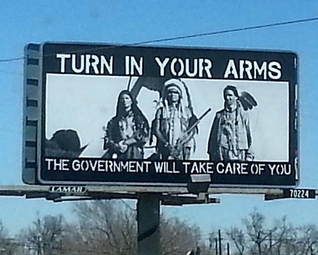 Pro Gun Native American Greeley Billboard