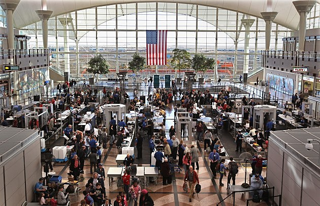 TSA Screens Passengers At Denver International Airport