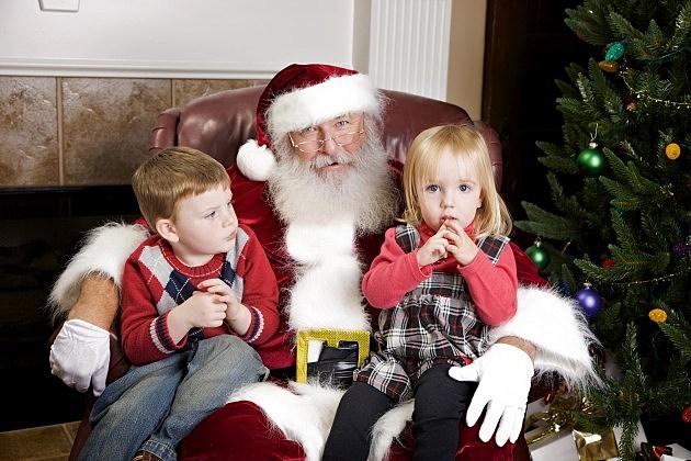 Sitting on Santa Claus Lap