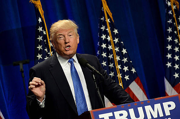 Donald Trump Delivers Speech In Manchester, New Hamoshire