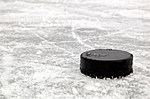 black hockey puck